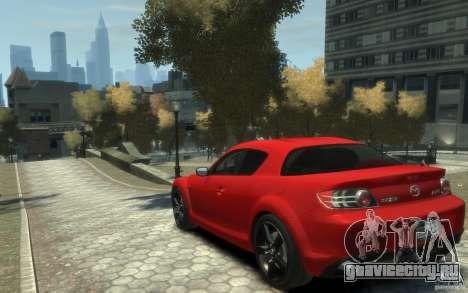 Mazda RX-8 (2006) для GTA 4 вид сзади слева