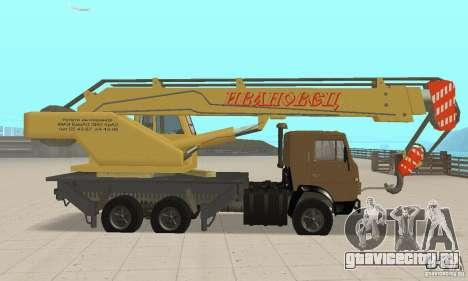 Камаз 53213 С КС 4572 для GTA San Andreas вид сзади слева