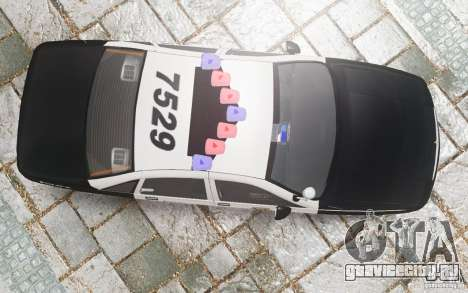 Chevrolet Caprice 1991 Police для GTA 4 вид снизу