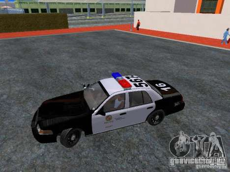 Ford Crown Victoria San Andreas State Patrol для GTA San Andreas вид изнутри