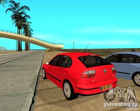 Seat Leon 1.9 TDI для GTA San Andreas вид сзади слева