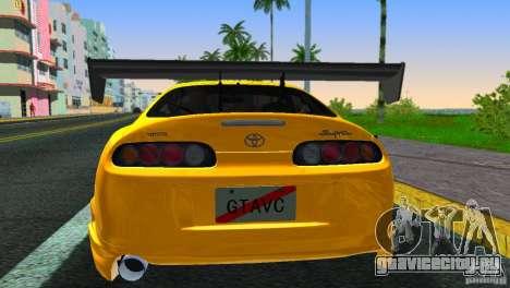 Toyota Supra JZA80 C-West для GTA Vice City вид сзади слева