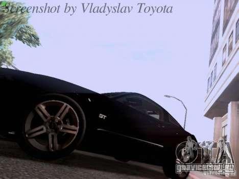 Ford Mustang GT 2011 Unmarked для GTA San Andreas вид сбоку