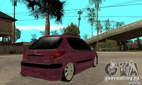 Peugeot 206 Suspen AR для GTA San Andreas вид справа