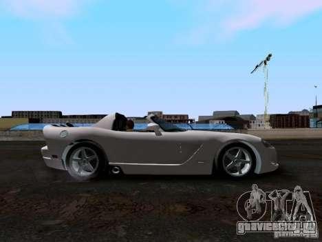 Dodge Viper SRT-10 Custom для GTA San Andreas вид изнутри