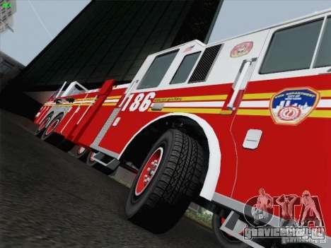 Seagrave Marauder. F.D.N.Y. Tower Ladder 186 для GTA San Andreas салон