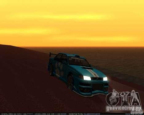 Новые винилы на Sultan для GTA San Andreas вид сзади слева