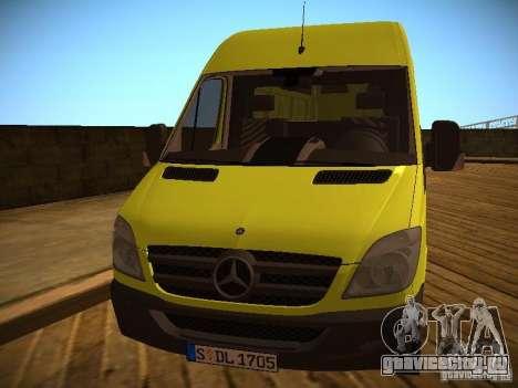 Mercedes Benz Sprinter 311 CDi для GTA San Andreas вид слева
