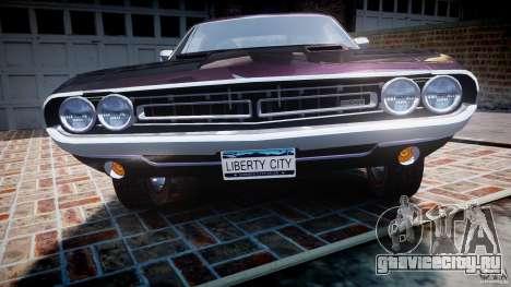 Dodge Challenger 1971 RT для GTA 4 вид снизу