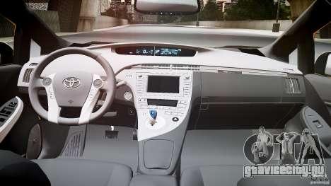 Toyota Prius LCC Taxi 2011 для GTA 4 вид сзади
