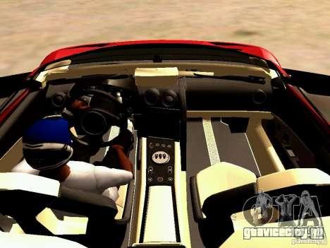 Lamborghini Reventon Roadster для GTA San Andreas вид сзади