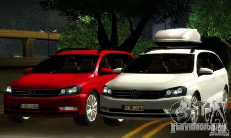 Volkswagen Passat B7 2012 для GTA San Andreas вид сверху
