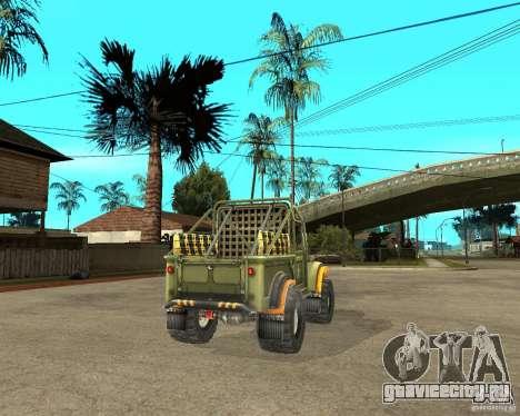 ГАЗ 69 Триал для GTA San Andreas вид сзади слева