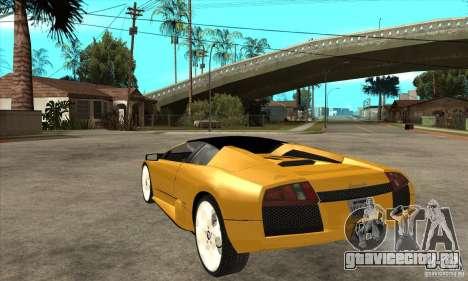 Lamborghini Murcielago Roadster Final для GTA San Andreas вид сзади слева