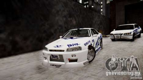 Nissan Skyline R-34 v1.0 для GTA 4