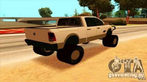 Dodge Ram 2500 4x4 для GTA San Andreas вид сзади слева