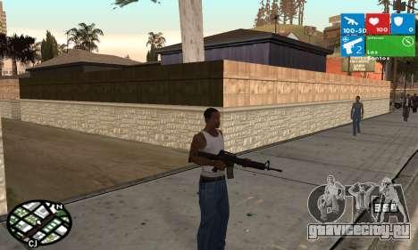 Windows 8 HUD для GTA San Andreas второй скриншот