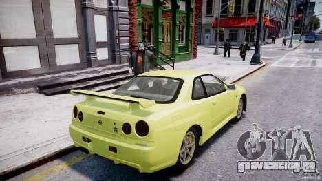 Nissan Skyline R-34 V-spec для GTA 4 колёса