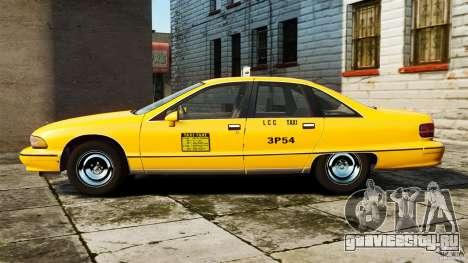 Chevrolet Caprice 1991 LCC Taxi для GTA 4 вид слева