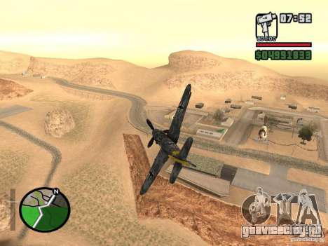 BF-109 G-16 для GTA San Andreas вид слева