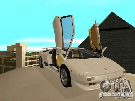Lamborghini Diablo VT 1995 V2.0 для GTA San Andreas вид изнутри
