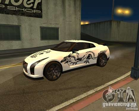 Nissan GT-R Pronto для GTA San Andreas вид сзади