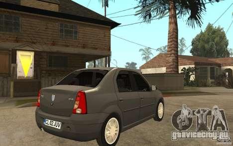 Dacia Logan Prestige 1.6 16v для GTA San Andreas вид справа