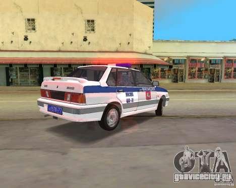 ВАЗ 2115 ДПС для GTA Vice City вид слева