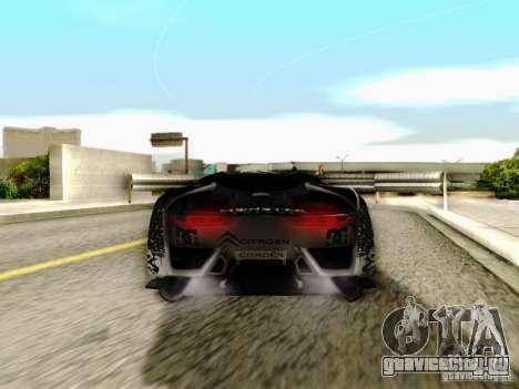 Citroen GT Gymkhana для GTA San Andreas вид изнутри