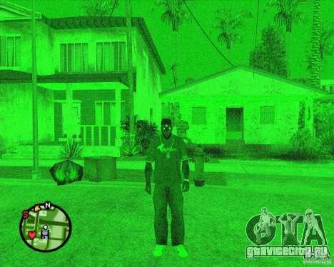 Прибор ночного видения Splinter Cell Goggles для GTA San Andreas второй скриншот