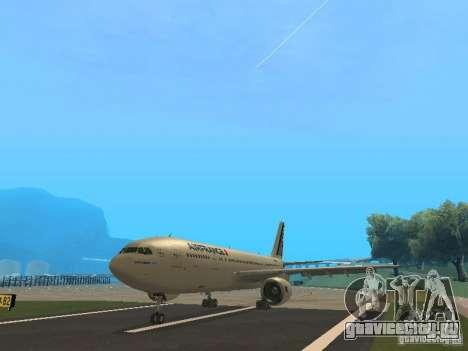 Airbus A300-600 Air France для GTA San Andreas вид слева