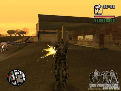 Военый сталкер в экзоскелете для GTA San Andreas пятый скриншот