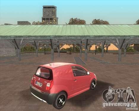 Citroen C2 workers car для GTA San Andreas вид сзади