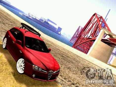 Alfa Romeo 159 Sportwagon для GTA San Andreas вид сзади слева