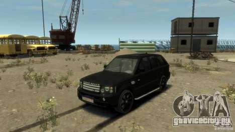 Land Rover Range Rover Sport для GTA 4 вид сзади слева
