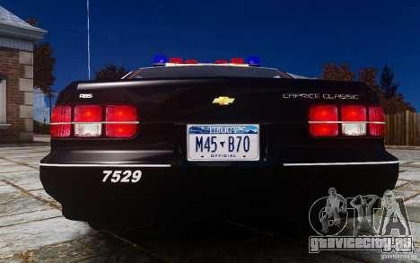 Chevrolet Caprice 1991 Police для GTA 4 вид справа