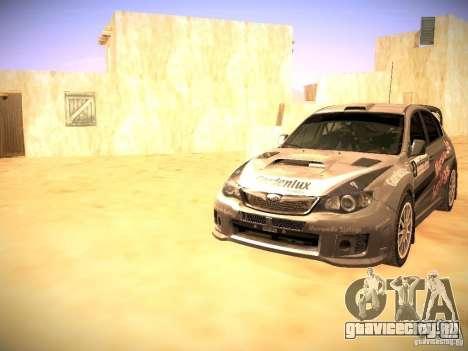Subaru impreza Tarmac Rally для GTA San Andreas салон