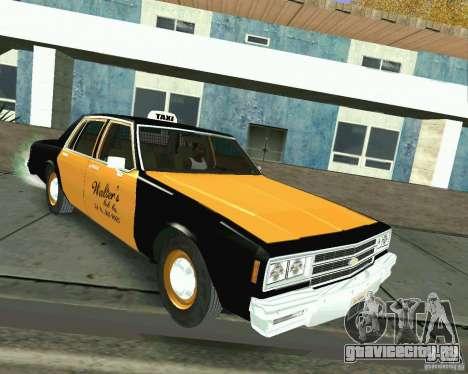 Chevrolet Impala 1986 Taxi Cab для GTA San Andreas