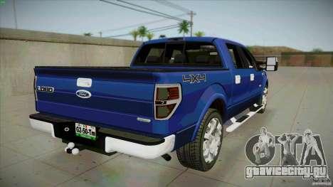 Ford Lobo Lariat Ecoboost 2013 для GTA San Andreas вид сзади слева