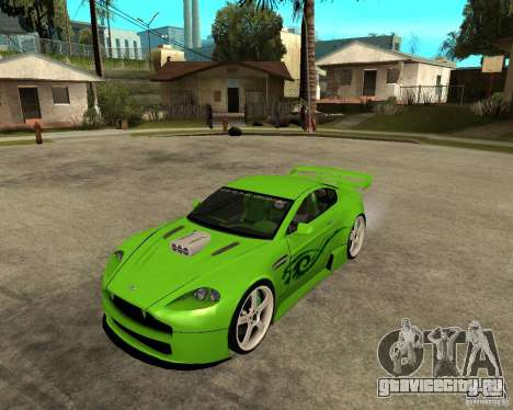 Aston Martin Vantage V8 - Green SHARK TUNING! для GTA San Andreas