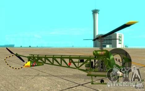 Bell H13 для GTA San Andreas вид сзади слева