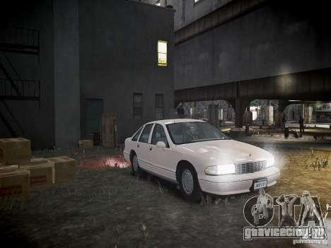 Chevrolet Caprice 1993 Rims 1 для GTA 4 вид сбоку