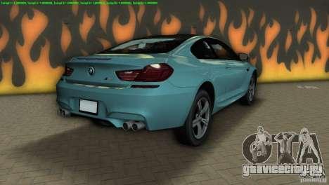 BMW M6 2013 для GTA Vice City вид сзади слева