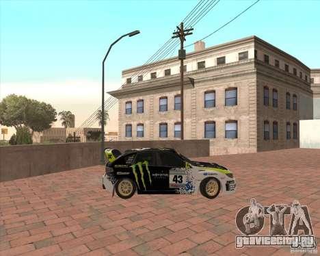 Subaru Impreza Ken Block для GTA San Andreas вид слева