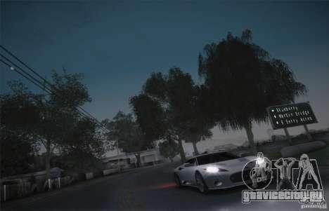 Spyker C8 Aileron для GTA San Andreas вид изнутри
