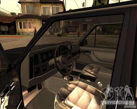 Jeep Cherokee для GTA San Andreas вид сзади