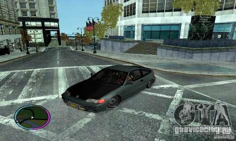 Honda CRX Tuned для GTA San Andreas вид сзади