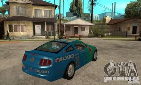 Ford Mustang GT Falken для GTA San Andreas вид справа