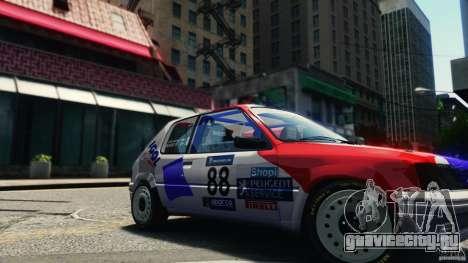 Peugeot 205 Rally для GTA 4 вид справа