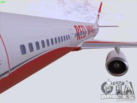 Tupolev Tu-204 Red Wings Airlines для GTA San Andreas вид снизу